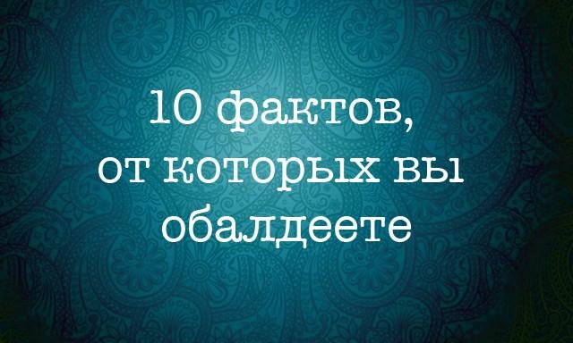 10 интересных фактов