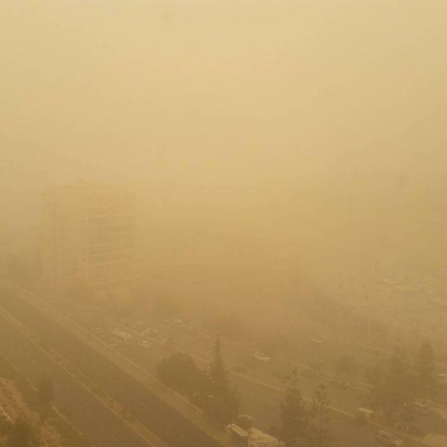 Песчаная буря в Израиле (21 фото)