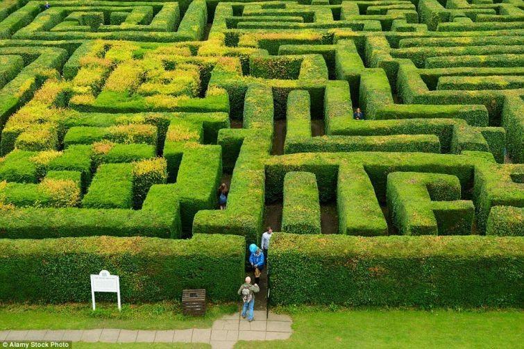 Необыкновенные лабиринты, сделанные человеком (20 фото)