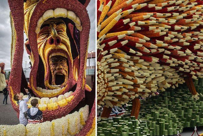 Парад цветов в голландском городе Зюндерт (14 фото)