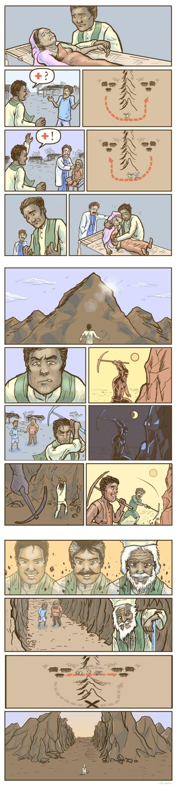 """Человек, который """"сдвинул"""" гору (6 фото)"""