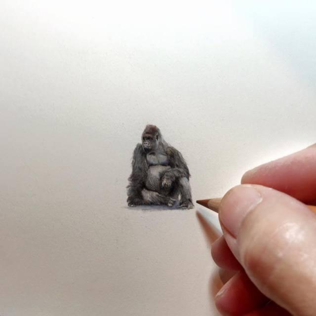 Миниатюрные рисунки Карен Лайбкэп (32 картинки)