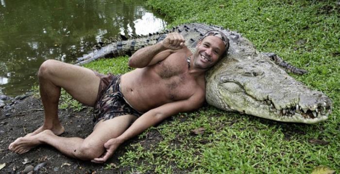 Крокодиловое шоу в Таиланде (8 фото)