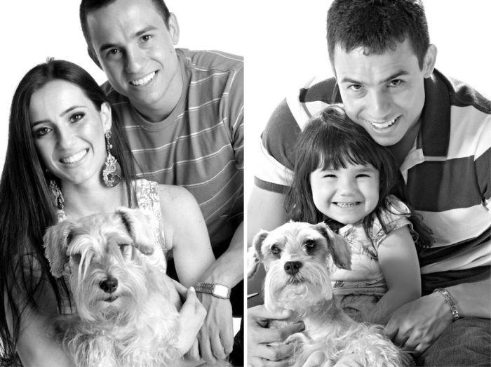 В память о погибшей маме, отец и 3-хлетняя дочь воссоздали фотографии (13 фото)