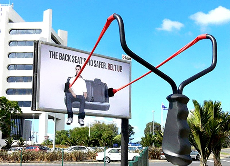 19 необычных рекламных щитов