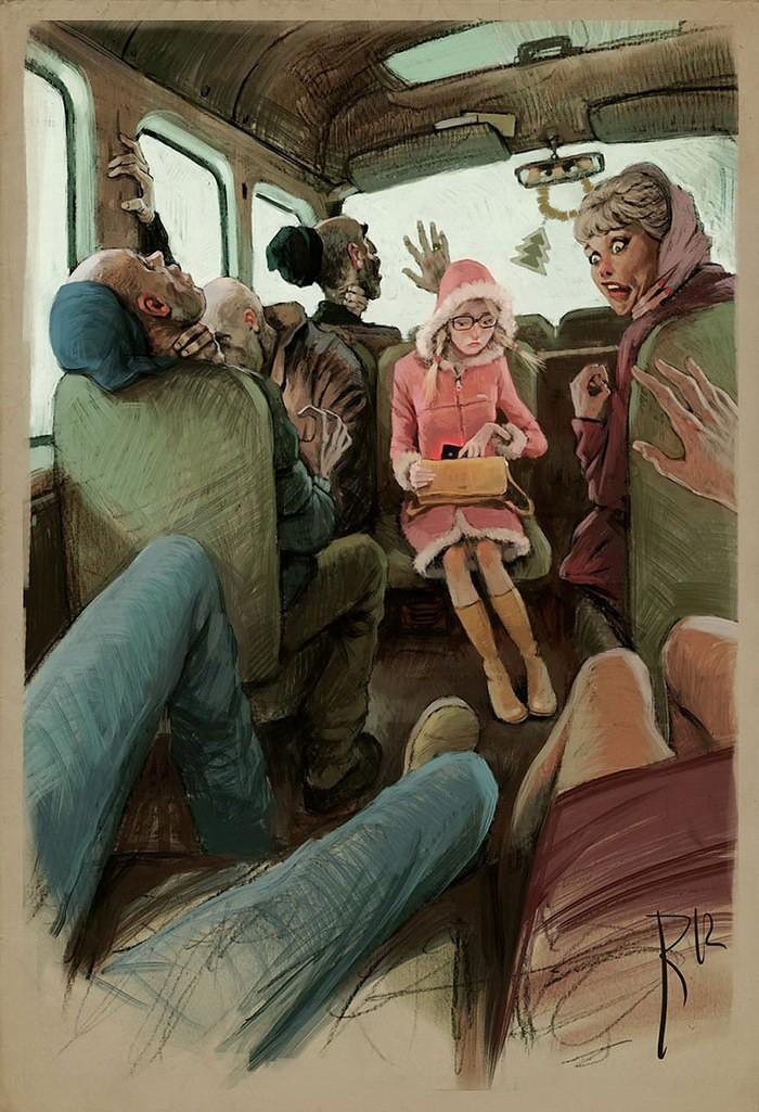 Художник высмеивает мир вокруг нас
