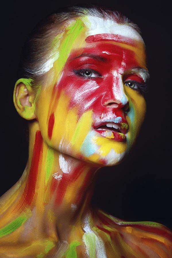 Портреты с разрисованными лицами (40 фото)