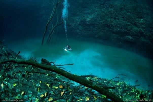 Дайвер обнаружил под водой... реку
