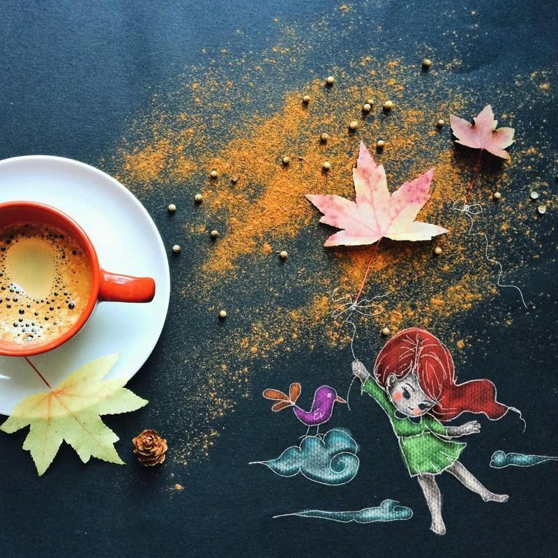 Утреннее кофе как искусство (16 фото)