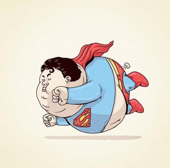 Растолстевшие супергерои
