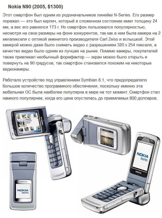 Некогда популярные мобильные телефоны