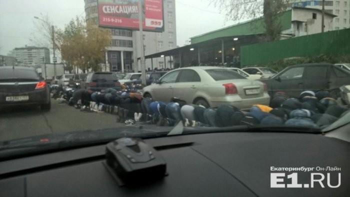 Празднование Курбан-байрама создало пробки в Екатеринбурге (4 фото)