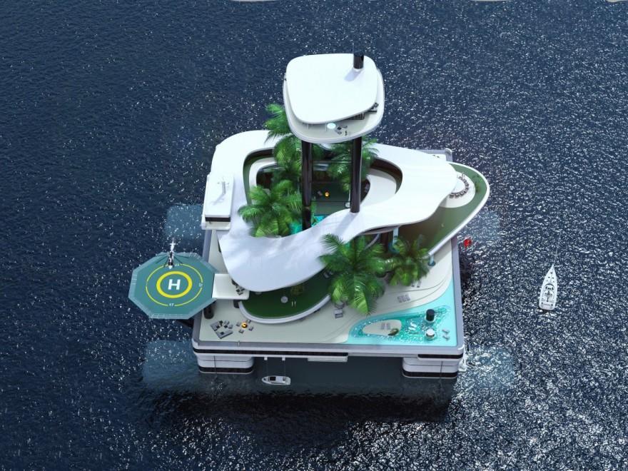 Передвижные частные острова (10 фото)