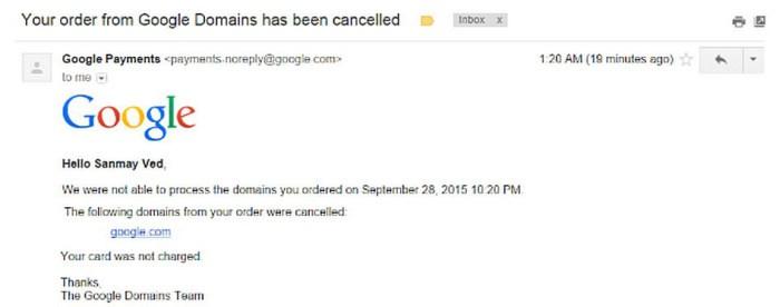 Домен Google.com всего за 12 долларов был куплен бывшим сотрудником Google (2 фото)