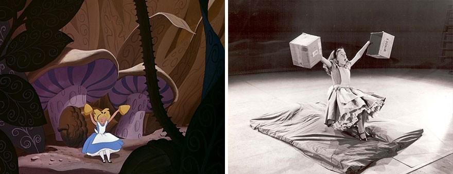 Создание мультфильма «Алиса в Стране чудес». Редкие кадры из студии Уолта Диснея