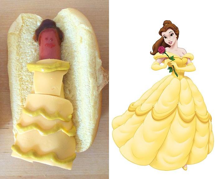 Принцессы из диснеевских мультфильмов в виде хот-догов (5 фото)