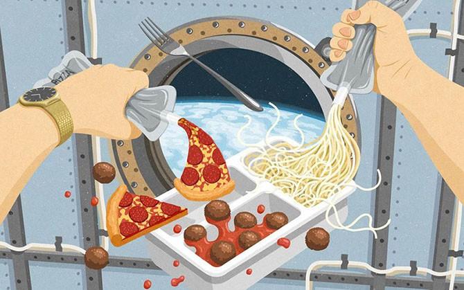 Эволюция космической еды