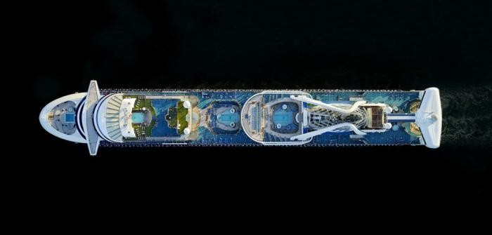Круизные теплоходы: вид сверху (8 фото)