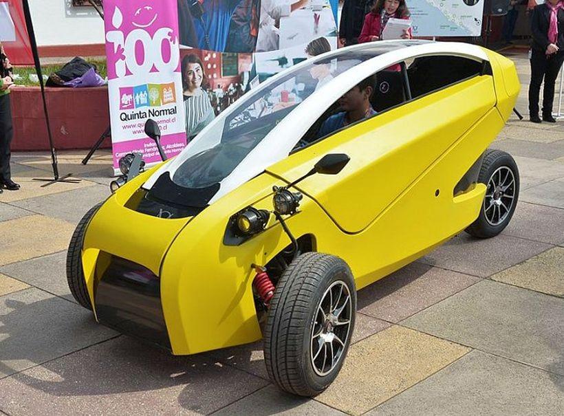 Трехколесный чилийский электромобиль (7 фото + видео)