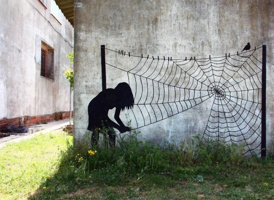Необычные стрит-арт работы (10 фото)