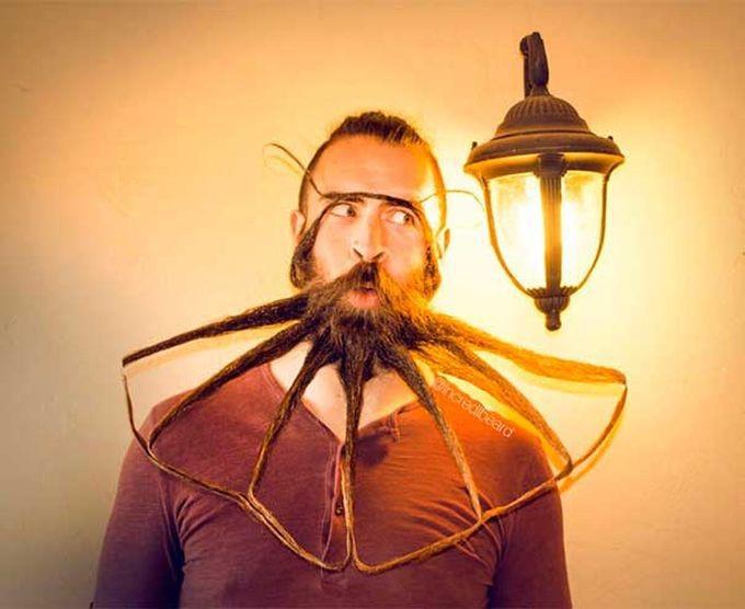 Эпические скульптуры из бороды от Mr. Incredibeard