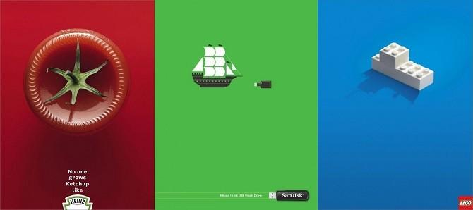 Минималистичная реклама. 16 крутых примеров