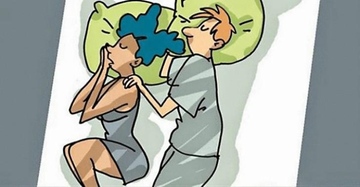 Позы для сна, характеризующие отношения внутри пары (10 фото)