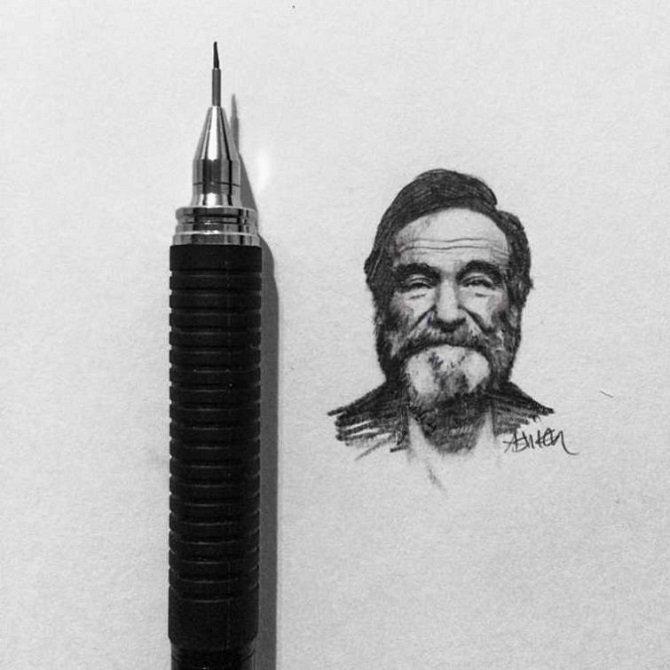 Необыкновенные миниатюрные рисунки знаменитостей