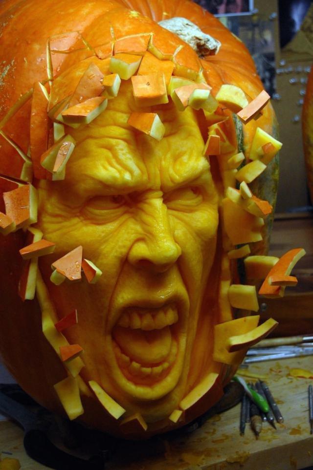 Забавные тыквы на  Хэллоуин