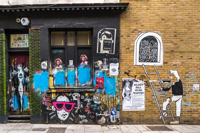 Уличное лондонское искусство (42 фото)
