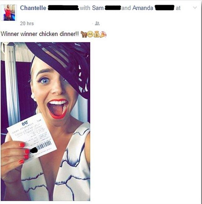 Девушка лишилась выигрыша, опубликовав селфи с выигрышным билетом в соцсети (фото)