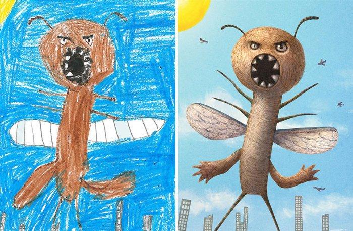 Монстры на основе детских рисунков (26 рисунков)