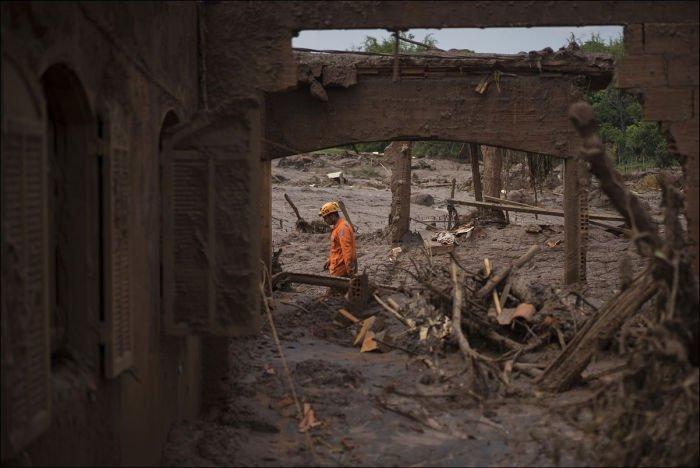 Бразильский городок после затопления