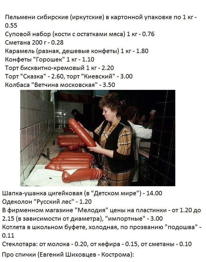 Цены в Советском Союзе
