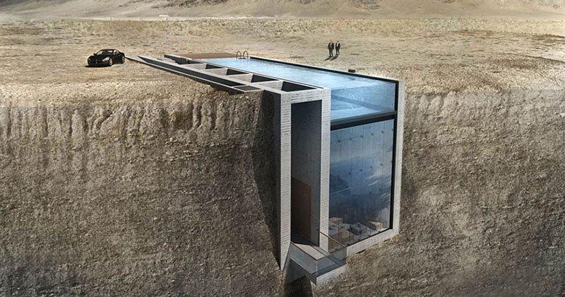 Необычный дом в скале