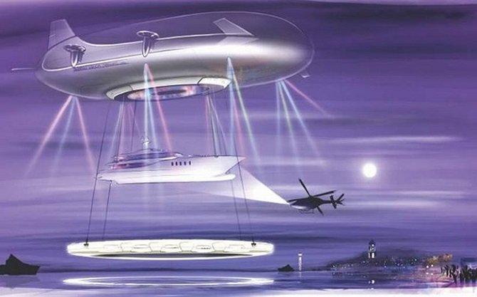 Проект воздушного судна будущего Halo с открытой террасой за 330 миллионов долларов