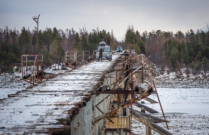 Cамый опасный мост в России