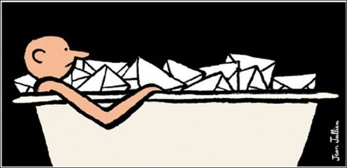 В рисунках Жана Жюльена выражена зависимость современного человека от смартфонов  (20 картинок)