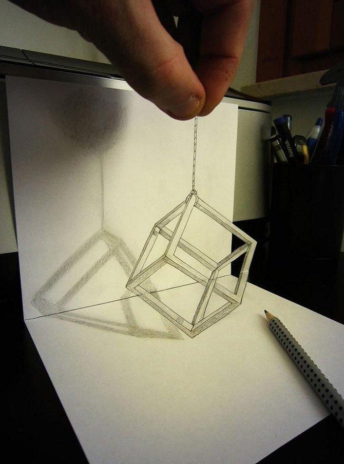 Невероятные трехмерные иллюзии, нарисованные простым карандашом