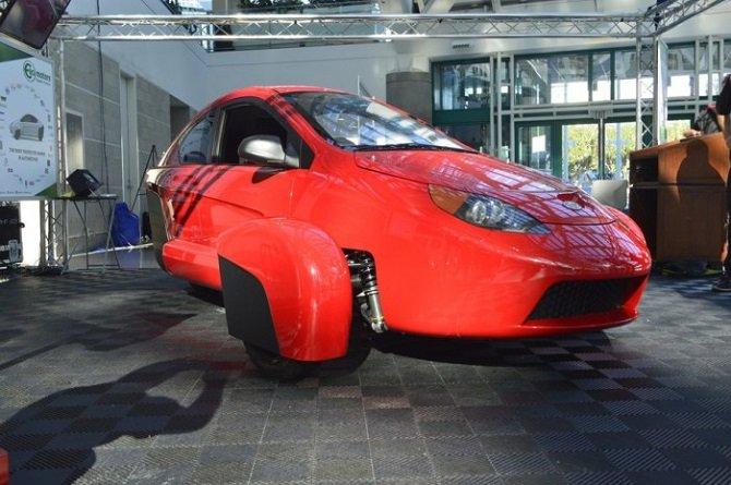 Трехколесный прототип P5 на лос-анджелесском автошоу