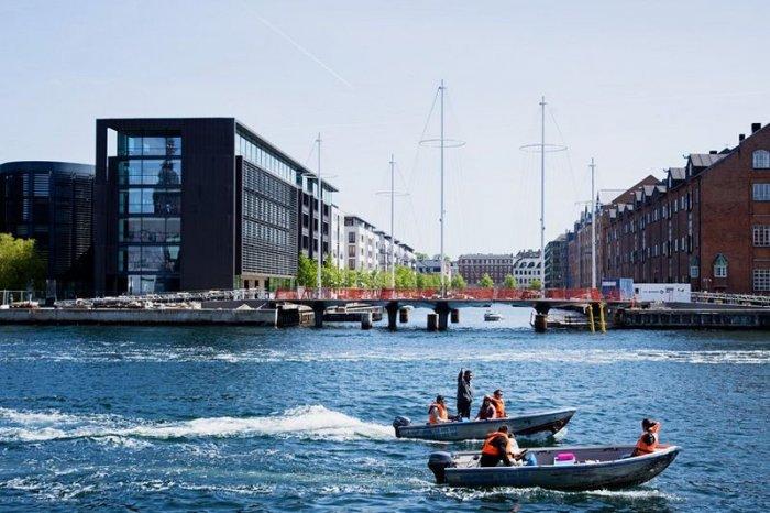 Необычный пешеходный мост в Дании (9 фото)