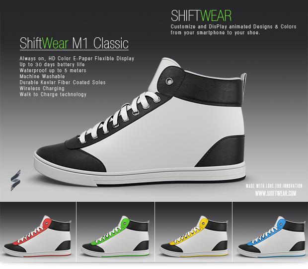 Меняющийся дизайн на кросовках (6 фото + видео)