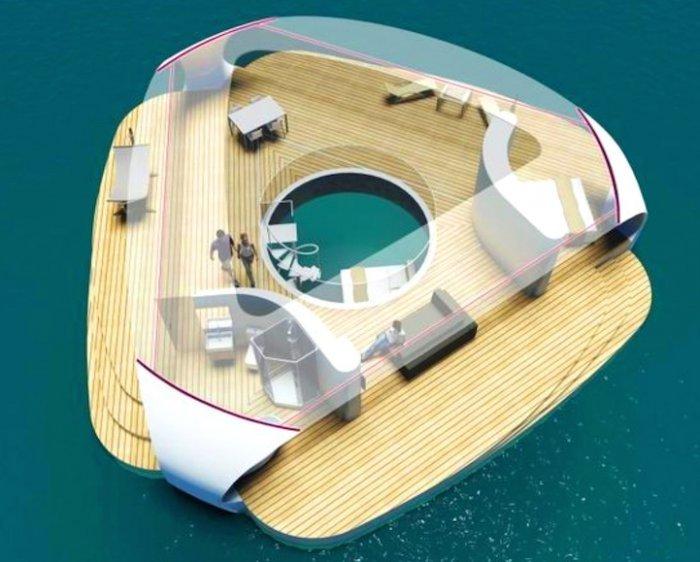 Вилла с подводными спальнями (8 фото)