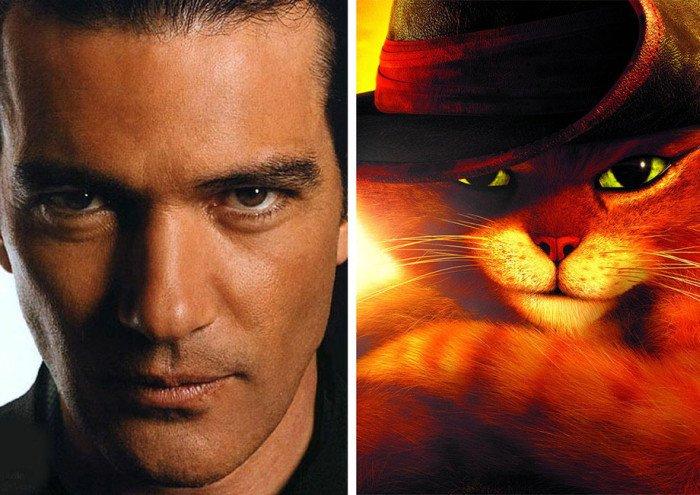 Сходство героев из мультфильмов и известных актеров (20 фото)