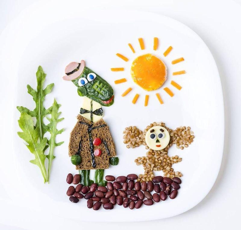 Мультфильм на тарелке