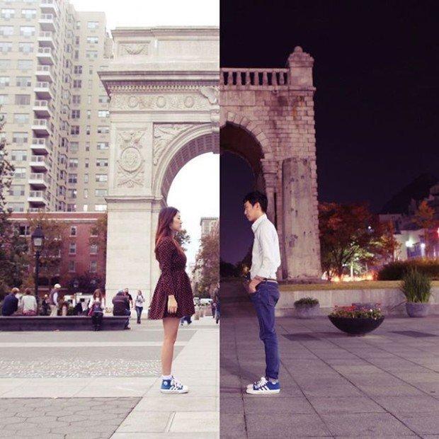Создавая совместные фото из двух половинок, влюбленные становятся ближе