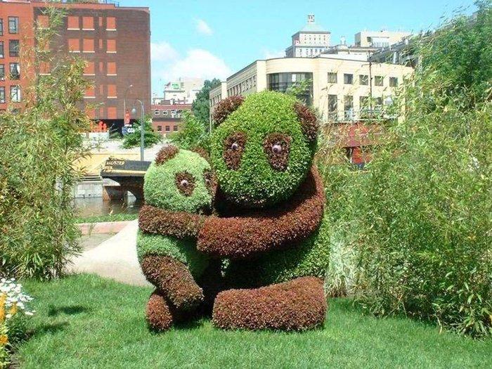 Потрясающие живые скульптуры