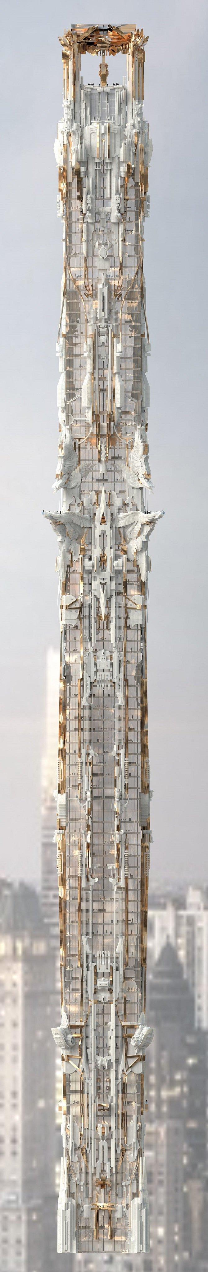 Проект фэнтези-небоскреба