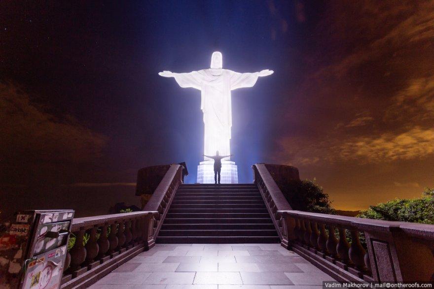 Как руферы добирались до статуи Иисуса Христа Искупителя в Бразилии