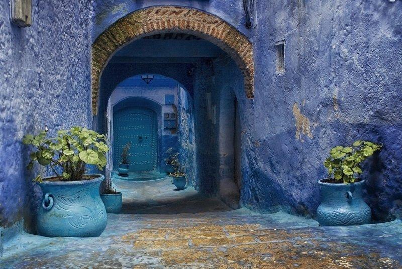 Cиний город в Марокко
